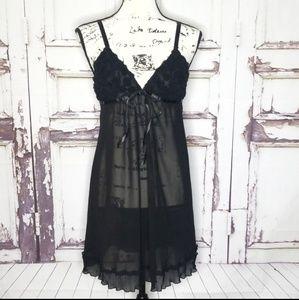 Oscar De la Renta babydoll Nightgown Lingerie M